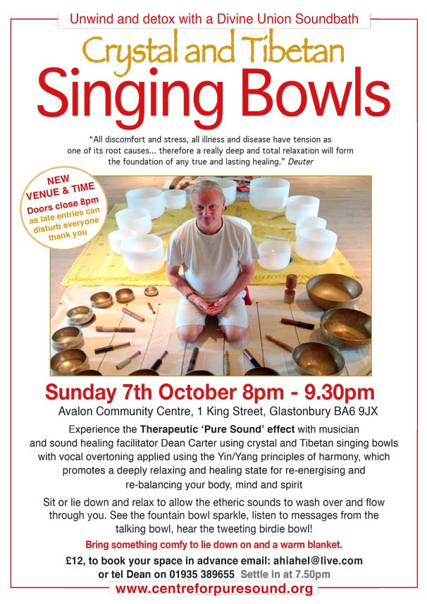 Crystal & Tibetan Singing Bowls Oct 2018